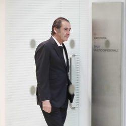 Cristóbal Martínez Bordiú acudiendo al tanatorio tras la muerte de Carmen Franco