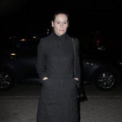 Fiona Ferrer acudiendo al tanatorio tras la muerte de Carmen Franco