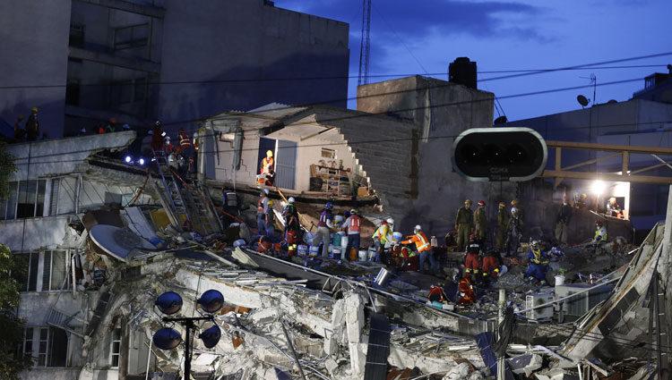 Labores de rescate en el terremoto de México de 2017