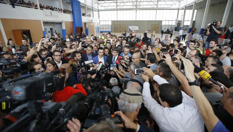 Declaraciones de Carles Puigdemont tras el Referéndum del 1-O