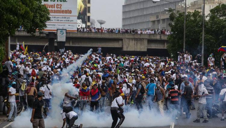 Protestas en Venezuela contra el régimen de Nicolás Maduro