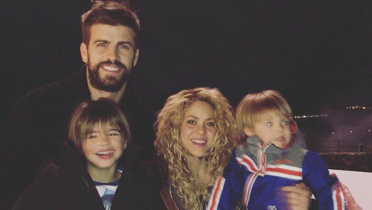 Shakira y Gerard Piqué disfrutando de la Navidad con sus hijos