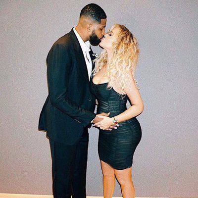 Khloe Kardahian y Tristan Thompson presumiendo de embarazo en el sexto mes de gestación
