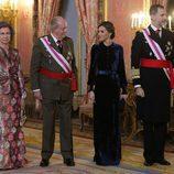 Los Reyes Felipe y Letizia y los Reyes Eméritos en la Pascua Militar 2018