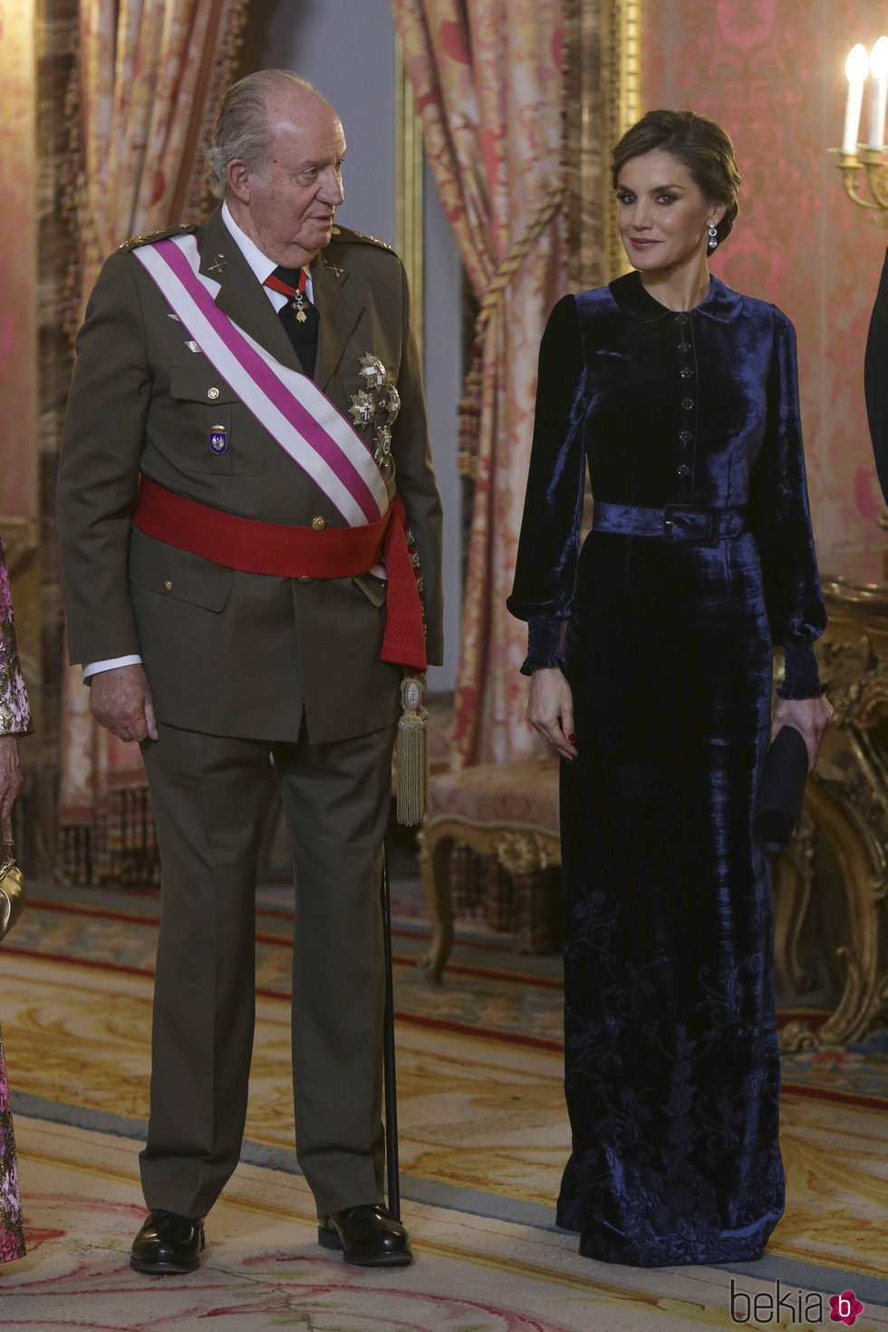 El Rey Juan Carlos con la Reina Letizia en la Pascua Militar 2018