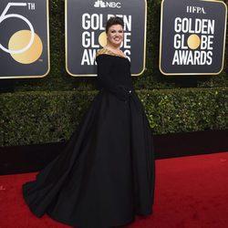 Kelly Clarkson en la alfombra roja de los Globos de Oro 2018