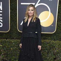 Michelle Pfeiffer en la alfombra roja de los Globos de Oro 2018