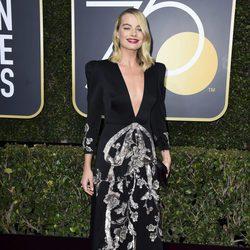 Margot Robbie en los Globos de oro 2018
