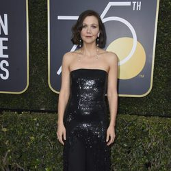 Maggie Gyllenhaal en los Globos de Oro 2018