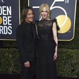 Nicole Kidman y Keith Urban en la alfombra roja de los Globos de Oro 2018