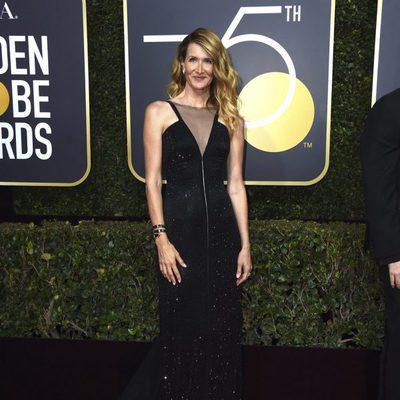 Laura Dern en la alfombra roja de los Globos de Oro 2018