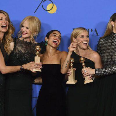 El cast de 'Big Little Lies' con tres de sus cuatro Globos de Oro del 2018 ganados