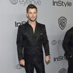 Chris Hemsworth en la fiesta InStyle tras los Globos de Oro 2018