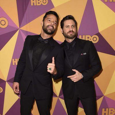 Ricky Martin y Edgar Ramirez en la fiesta HBO tras los Globos de Oro 2018