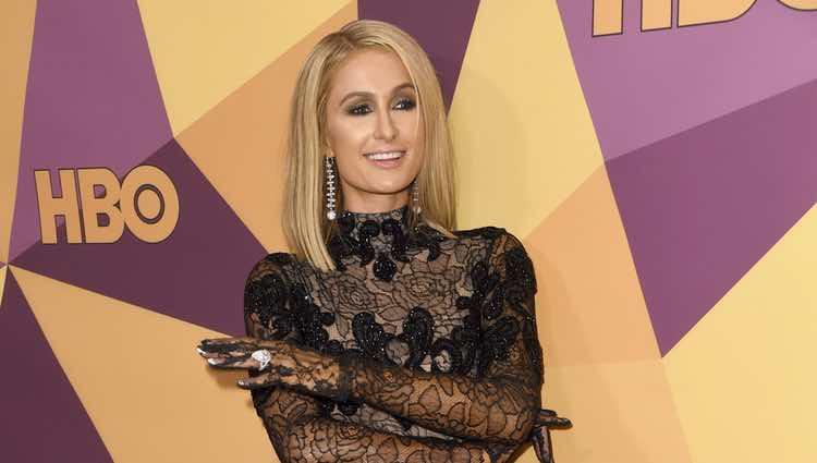 Paris Hilton en la fiesta HBO tras los Globos de Oro 2018