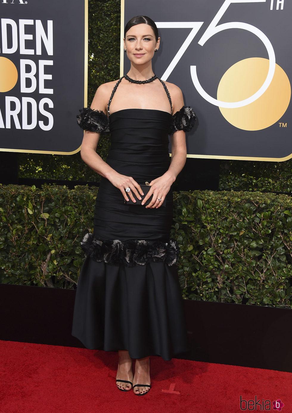 Caitriona Balfe en los Globos de Oro 2018