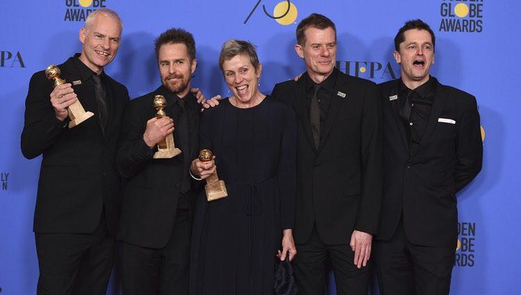Frances McDormand en los Globos de Oro 2018