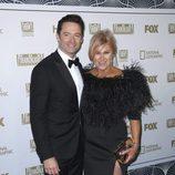 Hugh Jackman y su mujer Deborra-Lee Furness en la fiesta Fox tras los Globos de Oro 2018
