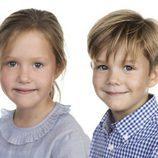 Josefina y Vicente de Dinamarca en su 7 cumpleaños