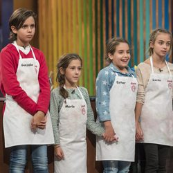 Gonzalo, Lucía, María y Esther en la final de 'MasterChef Junior 5'
