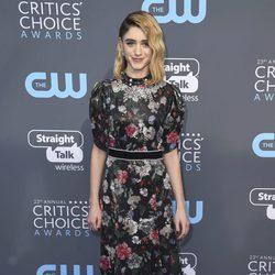 Natalia Dyer  en la alfombra roja de los Critics' Choice Awards 2018