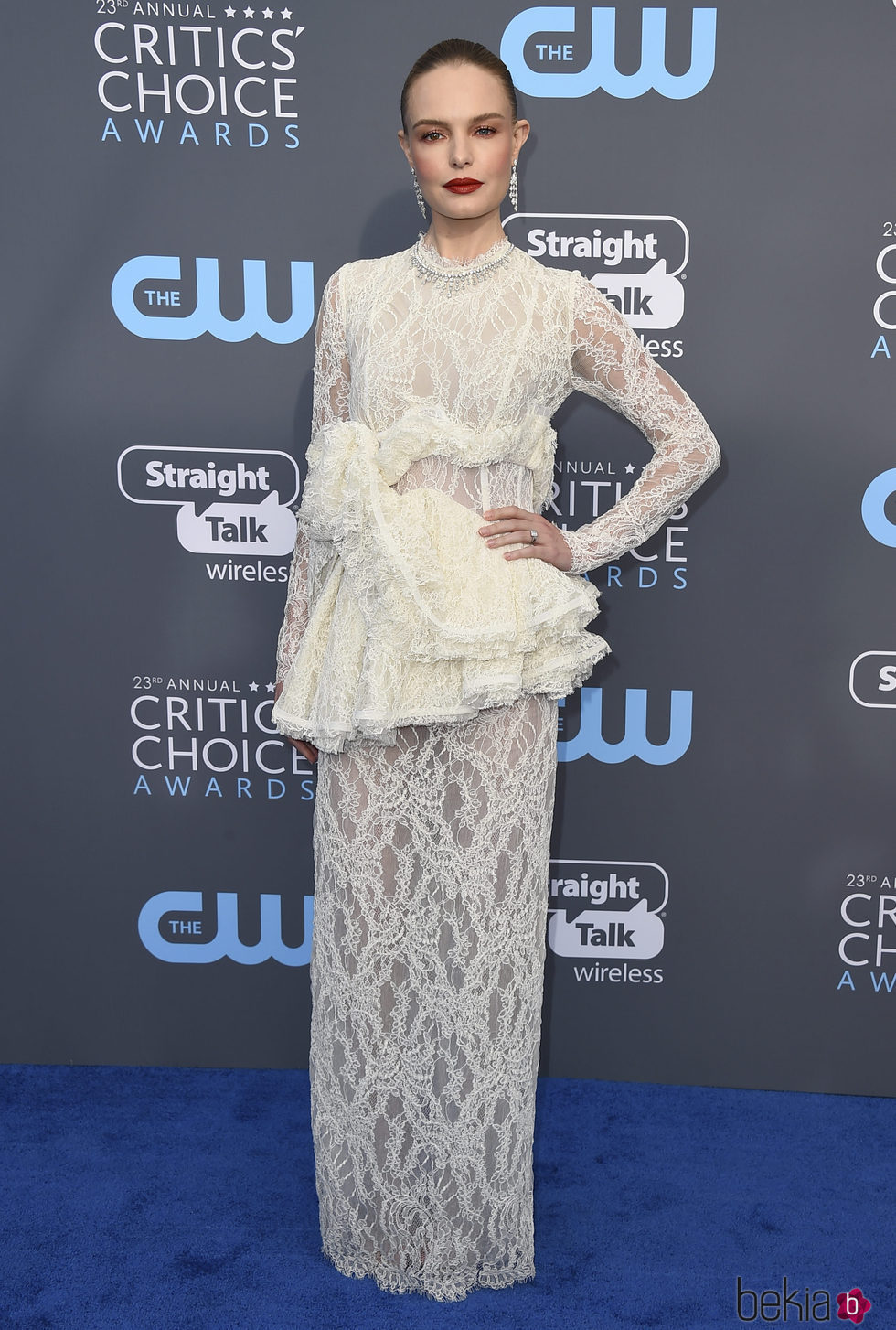 Kate Bosworth en la alfombra roja de los Critics' Choice Awards 2018