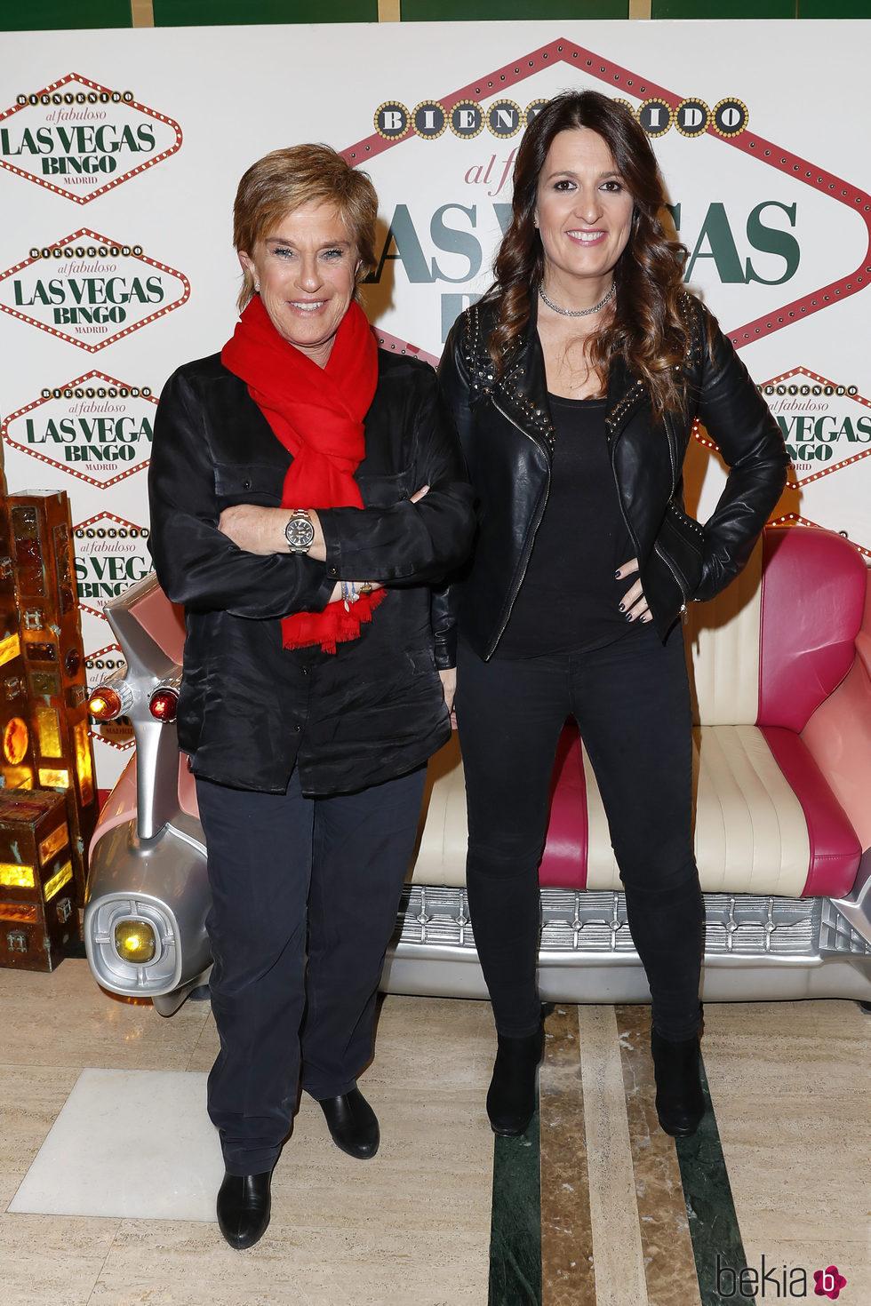 Chelo García Cortés y Laura Fa en la fiesta de 'Sálvame' en Bingo Las Vegas