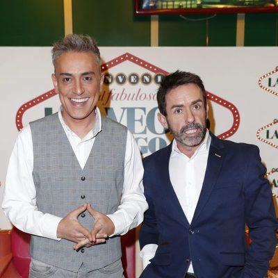 Kiko Hernández y Jesús Manuel en la fiesta de 'Sálvame' en Bingo Las Vegas
