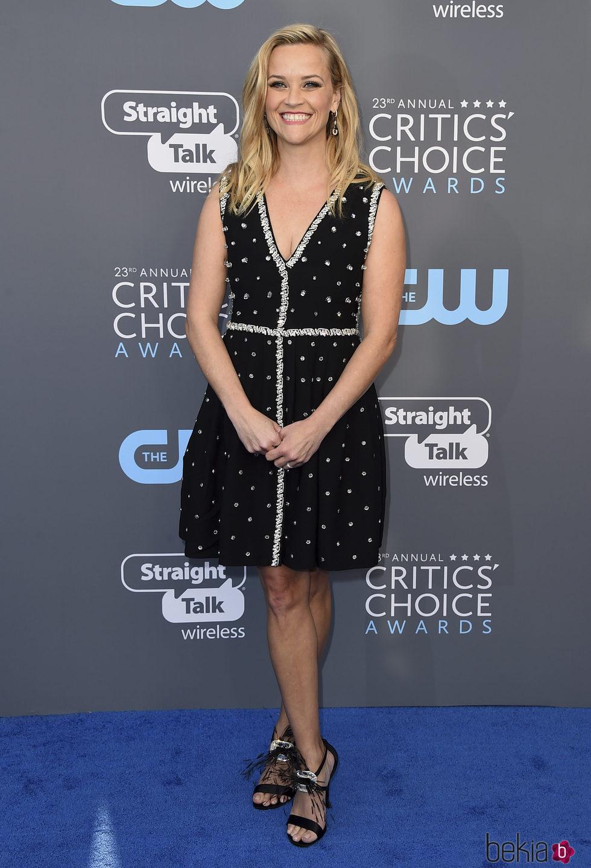 Reese Witherspoon en la alfombra roja de los Critics' Choice Awards 2018