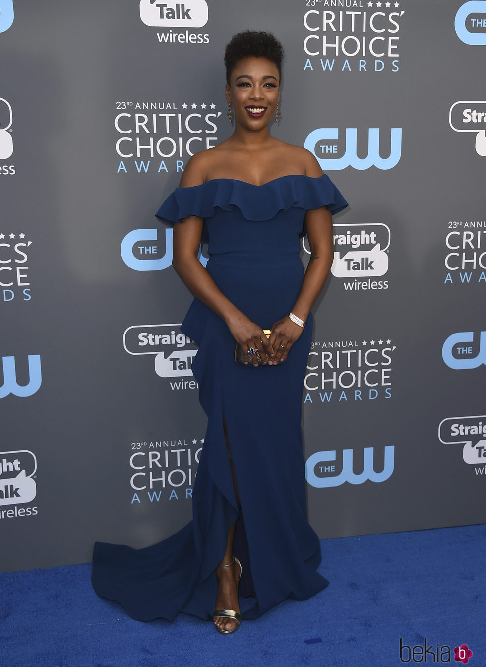 Samira Wiley e la alfombra roja de los Critics' Choice Awards 2018