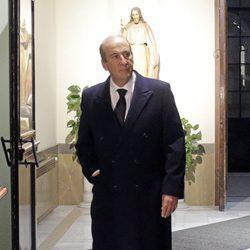 Francis Franco en el funeral de Carmen Franco