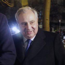 Fernando Martínez de Irujo en el funeral de Carmen Franco