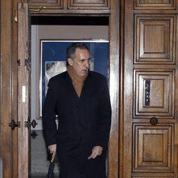 Jaime de Marichalar en el funeral de Carmen Franco