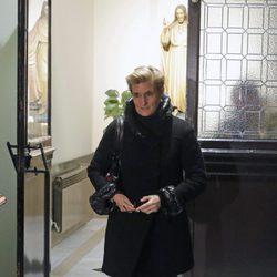 María Zurita en el funeral de Carmen Franco