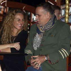 Rocío Carrasco, muy cómplice con Aurelio Manzano en el musical en homenaje a Rocío Jurado