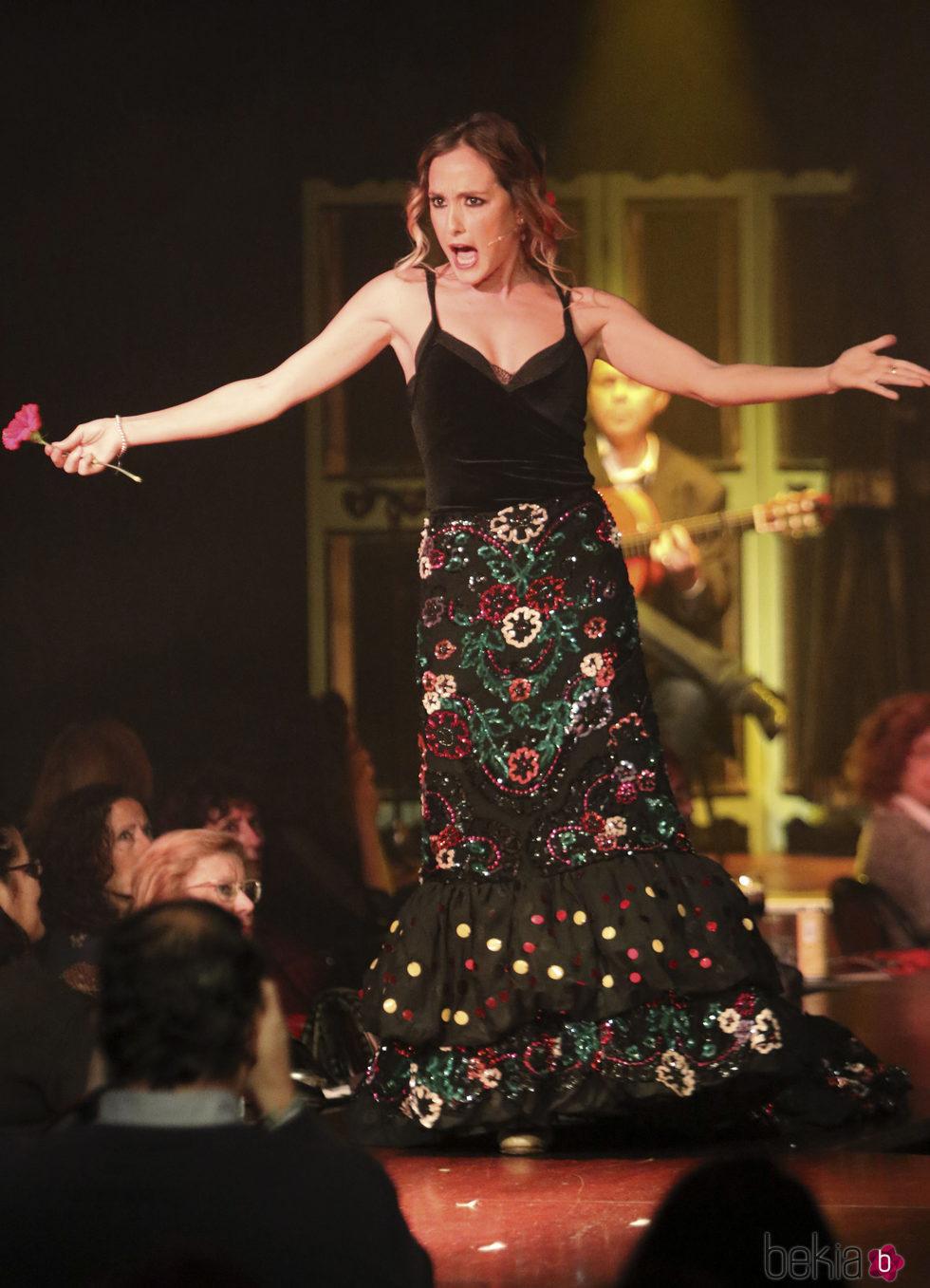 Anabel Dueñas en el musical en homenaje a Rocío Jurado