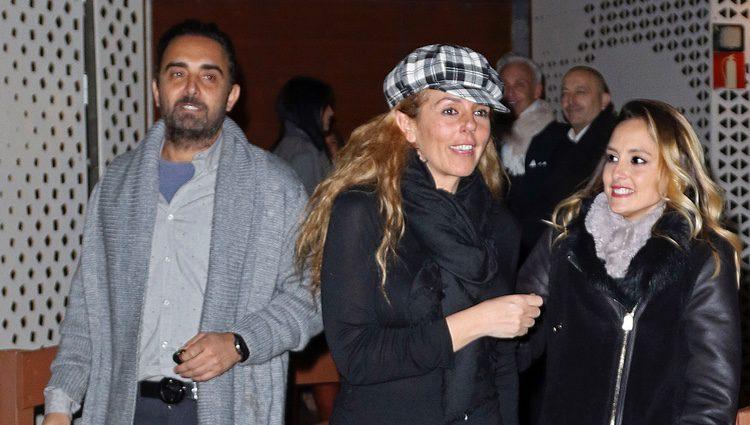 Fidel Albiac, Rocío Carrasco y Anabel Dueñas en el musical en homenaje a Rocío Jurado