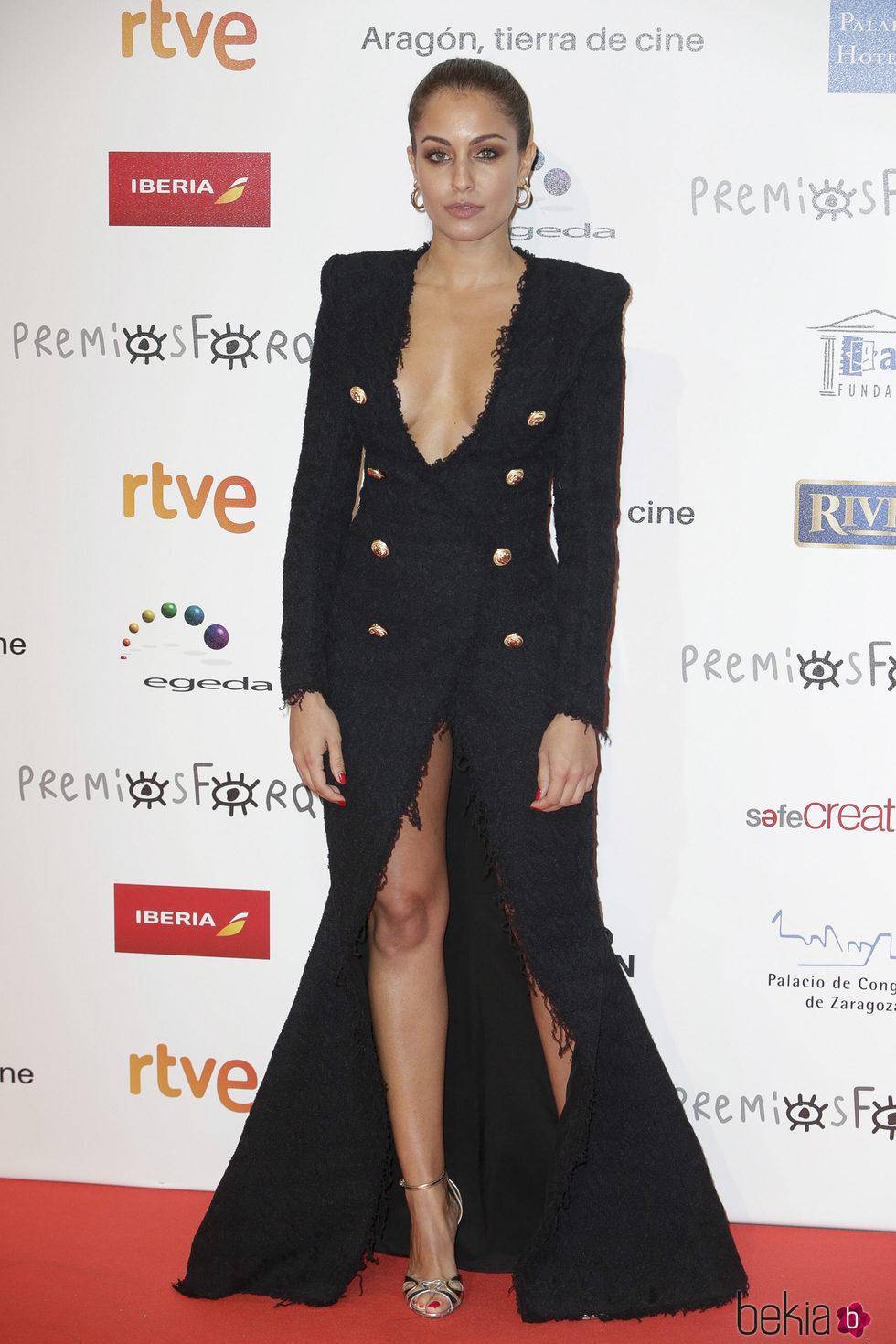 Hiba Abouk en la alfombra roja de los Premios Forqué 2018
