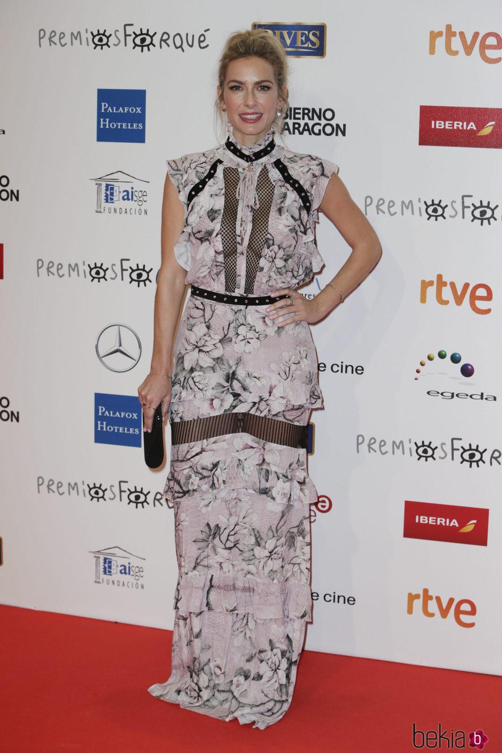Kira Miró en la alfombra roja de los Premios Forqué 2018