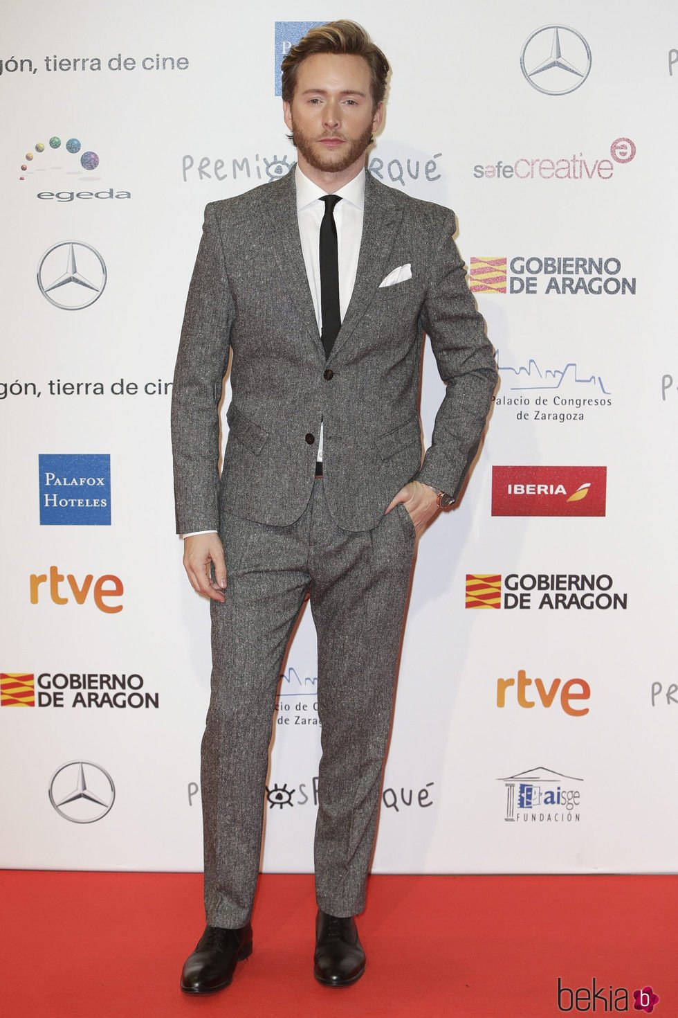 Pablo Rivero en la alfombra roja de los Premios Forqué 2018