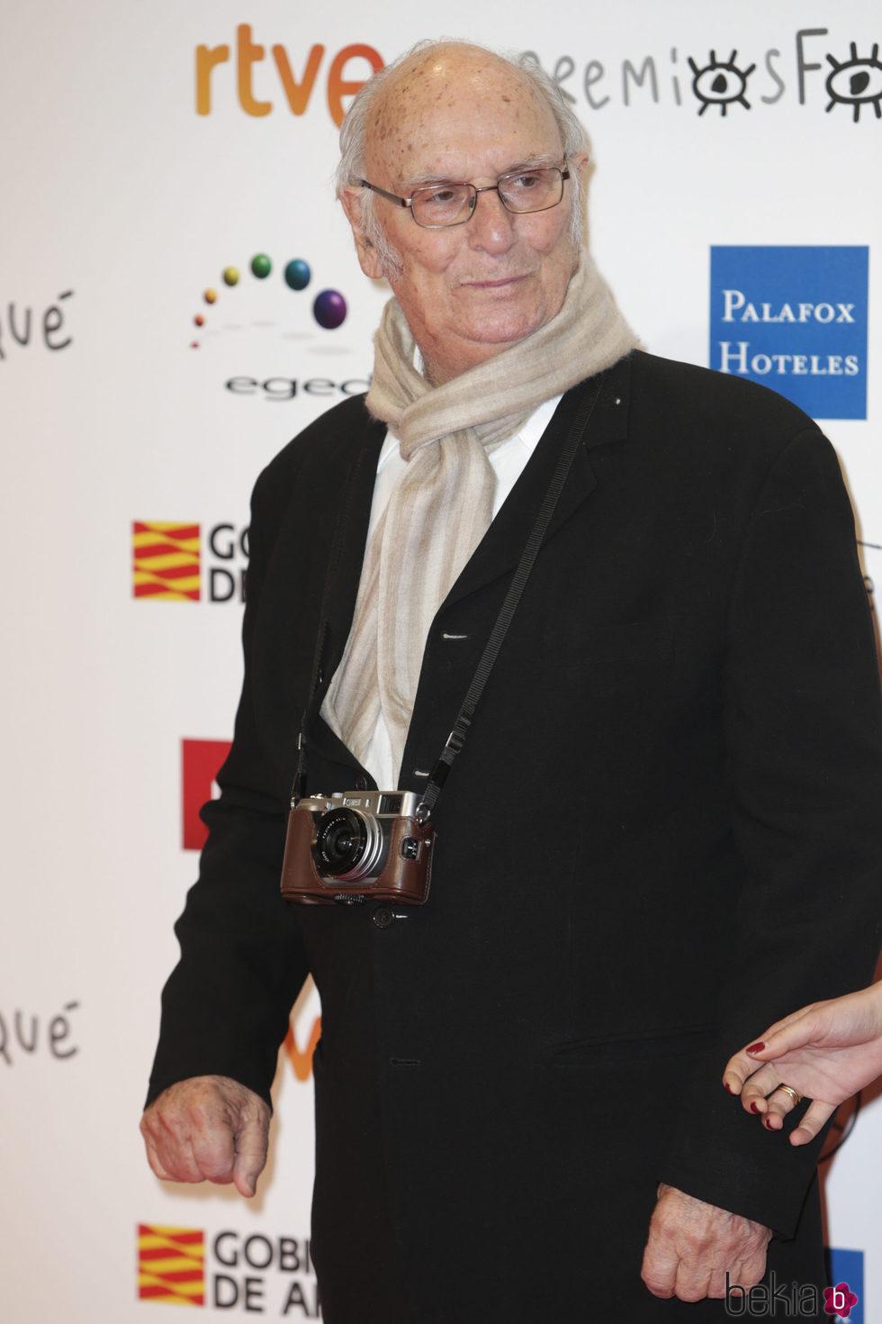Carlos Saura en la alfombra roja de los Premios Forqué 2018