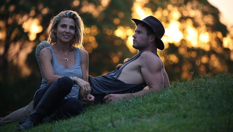 Chris Hemsworth presume de su 'superheroína' Elsa Pataky