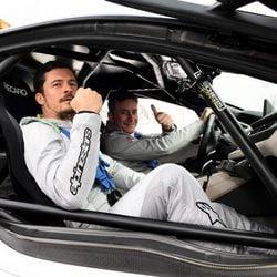 Orlando Bloom y Alejandro Agag disfrutando de la Fórmula E