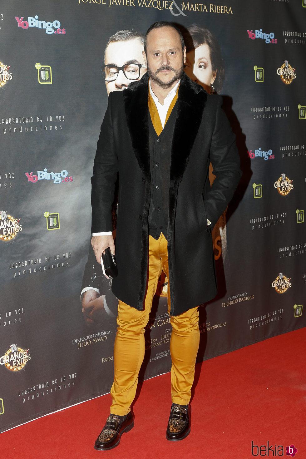 Nacho Montes en el estreno de 'Grandes éxitos'