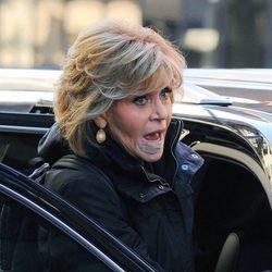 Jane Fonda primeras imágenes con los apósitos por el cáncer
