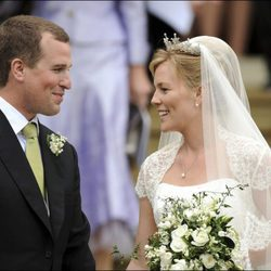 Peter Phillips y Autumn Kelly en su boda