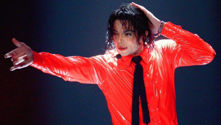 Michael Jackson durante uno de sus espectáculos antes de morir
