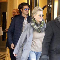 Sharon Stone junto a su nuevo novio Angelo Boffa