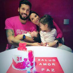 Tamara Gorro celebrando su 31 cumpleaños en familia