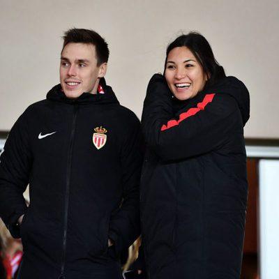 Louis Ducruet y Marie Chevallier, muy sonrientes en un partido de fútbol